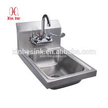 Handelshandwaschbecken für die Versorgung, Tropfen im Edelstahl-Handwaschbecken für heißen Verkauf
