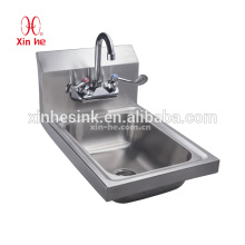 Dissipador comercial da lavagem da mão para a restauração, gota no dissipador de aço inoxidável da mão para a venda quente