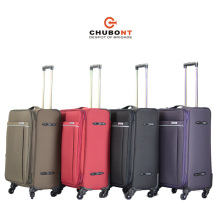 Chubont Hot Sell Fashion Color Matched 100% Polyester Trolley Luggage