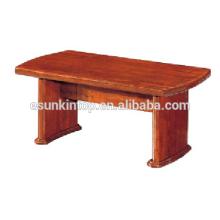 Acabado de madera de la tabla de centro del estilo modesto para la oficina. Mesa de madera de alta calidad para la venta (T005)