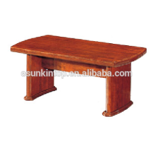 Mesa de café modesta acabamento em madeira para escritório. Mesa de madeira de alta qualidade para venda (T005)