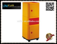 High quality ABS square modern componibili plastic container with wheels