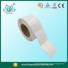 Etiqueta engomada del código de barras del precio de fábrica, rollo en blanco del papel de etiqueta