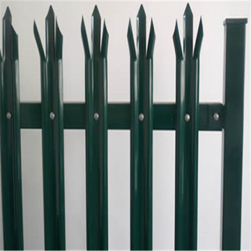 high quality powder coated steel palisade tower fence