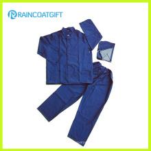 Impermeable y pantalón de poliéster de PVC resistente al agua