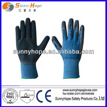 Gant coton / spandex à 13 jauges avec gant de jardin en latex moulé