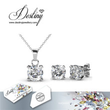 Destiny Jewellery Crystal From Swarovski Crystal Snail Set Pendant and Earrings
