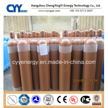 Cylindre de gaz en acier inoxydable à 50 barres d'oxygène à oxygène 50L