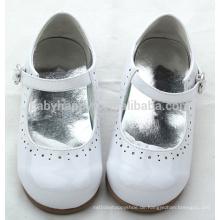Frühlingskinder glänzendes Leder 0-2years Mädchen PVC-Sohle Babykleidschuhe
