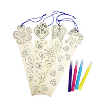 kids painting drawing coloring diy wooden designs bookmark