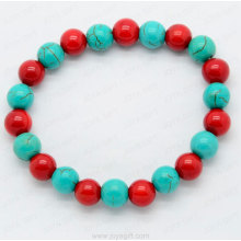 Red Coral Turquoise stone bracelet