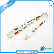 Polyester Material Sublimation Lanyards with Customized Logo