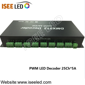 DC24V PWM DMX LED Decodificador Led Dimmer