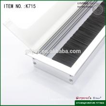 Caja de cable de oficina de aluminio / caja de salida de cable para escritorio de muebles