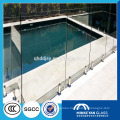 high quality fashion 12mm toughened glass price with SGCC and CCC