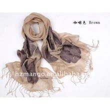 100% льняной вышитый модный шарф