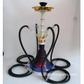 Black+multi+tube+glass+hookah