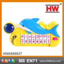Funny Battery Operated Plastic Kids Dolphin Keyboard 8 Keys Musical Set