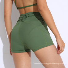 Yoga Pants High Elastic Sports Pants Quick Drying Training Gym Athletic Shorts