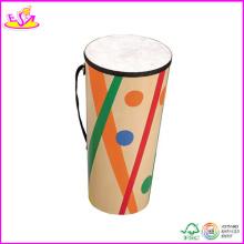 2014 Hot Sale Wooden Kids Drum Toy, New Fashion Children Drum Toy, High Quality Baby Wooden Drum Toy W07j006