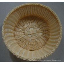 Panier en plastique fait à la main; Panier de pain; Panier à nourriture; Panier de rangement