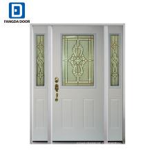 O estilo americano da qualidade de confiança de Fangda usou as portas de entrada de aço exteriores para a venda