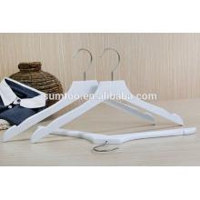 venta al por mayor de loto blanco ropa de madera camisa perchas
