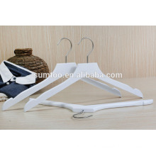 wholesale white lotus wood clothes shirt hangers