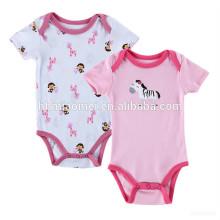 Säuglings- und Kleinkindbaby onesie einfacher Entwurf neugeborener Ebene druckte weißes rosa Baby gestrickter Spielanzug