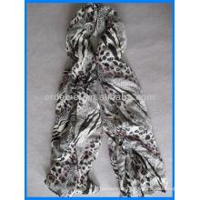 Écharpe en coton léopard de mode et châle en gros