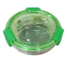 Bonito diseño de forma redonda vidrio Candy Bowl