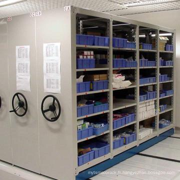 Solution mobile de stockage d'entrepôt et de bureau / support mobile manuel léger