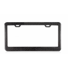 Carbon fiber car license plate