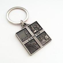 Porte-clés en liage en alliage de zinc Souvenir de Londres avec logo (F1109)