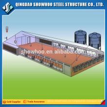 Showhoo Precio bajo Alta calidad Automática Estructura de acero Vertido Aves de corral Casa de la granja Diseño Dibujo