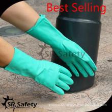 SRSAFETY industrial anti oil GOLVES washable nitrile gloves