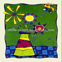 Pintura a óleo dos desenhos animados para a decoração do quarto dos miúdos