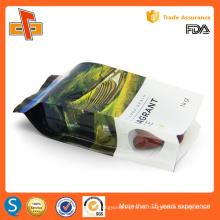 OEM de aluminio de laminado de impresión de encargo gusset lateral bolsas de plástico para el arroz de embalaje 250g