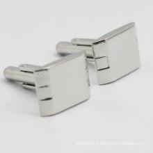 Custom Stainless Steel Metal em branco Cufflinks