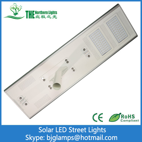 100W LED Street Lights of Solar Energy All In One Lamps