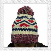 Tejido de punto de gorro con sombrero de polar invierno dentro para las niñas (1-3469)
