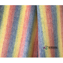 Colorful Rainbow Stripe 100% Fabric Wool