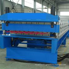 Steel double deck roll former machine