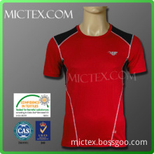 Wicking finish square mesh polyester sports custom made t shirts