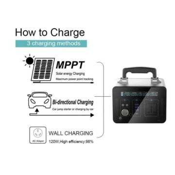 Portable Power Supply Lithium ion Solar Battery 1000W