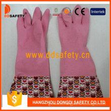 Pink Household Latex Latex Household Gloves (DHL718)