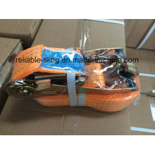 Amarração da amarração da tenacidade alta amarra a amarração da correia / catraca / correia da catraca com ISO do GV do CE aprovado