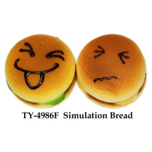 Brinquedo de pão de simulação de espremer engraçado