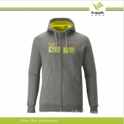 Customized Spring Pinted Zipper Man Hoodies (KY-H026)