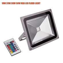 30W IP65 RGB controlador remoto LED exterior Floodlight